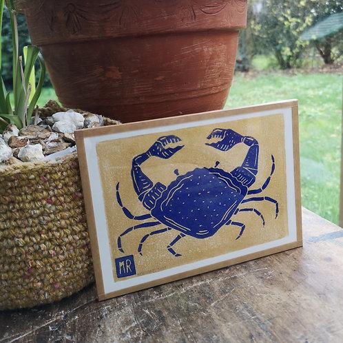 Crabe bleu & or