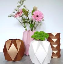 Les Vases Géométriques origami - pour tous 2H / avec Fleurs +1H
