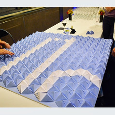 Oeuvre Origami Modulaire - avec Ineria pour les 10 ans de BTP Consultant