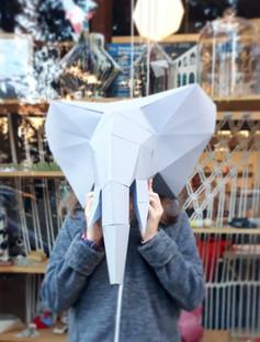 Tête élephant 3D super déco