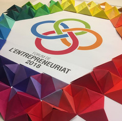 à la CCI de Lyon - Oeuvre participative en Origami modulaire