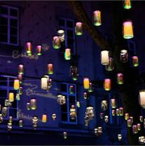 """Fête des mumières 2018 - """"Lumières en Soi(e)""""avec Créatmosphère le Lauréat du 2ème prix et La Région - Place-rambaud-la martiniere-lyon"""