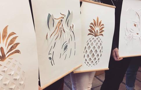 Tableaux Kirigami et feuille d'or pour habiller vos murs