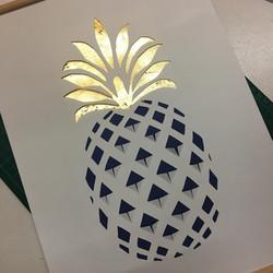 Tableau Kirigami Ananas