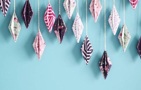 Tête de lit origami !