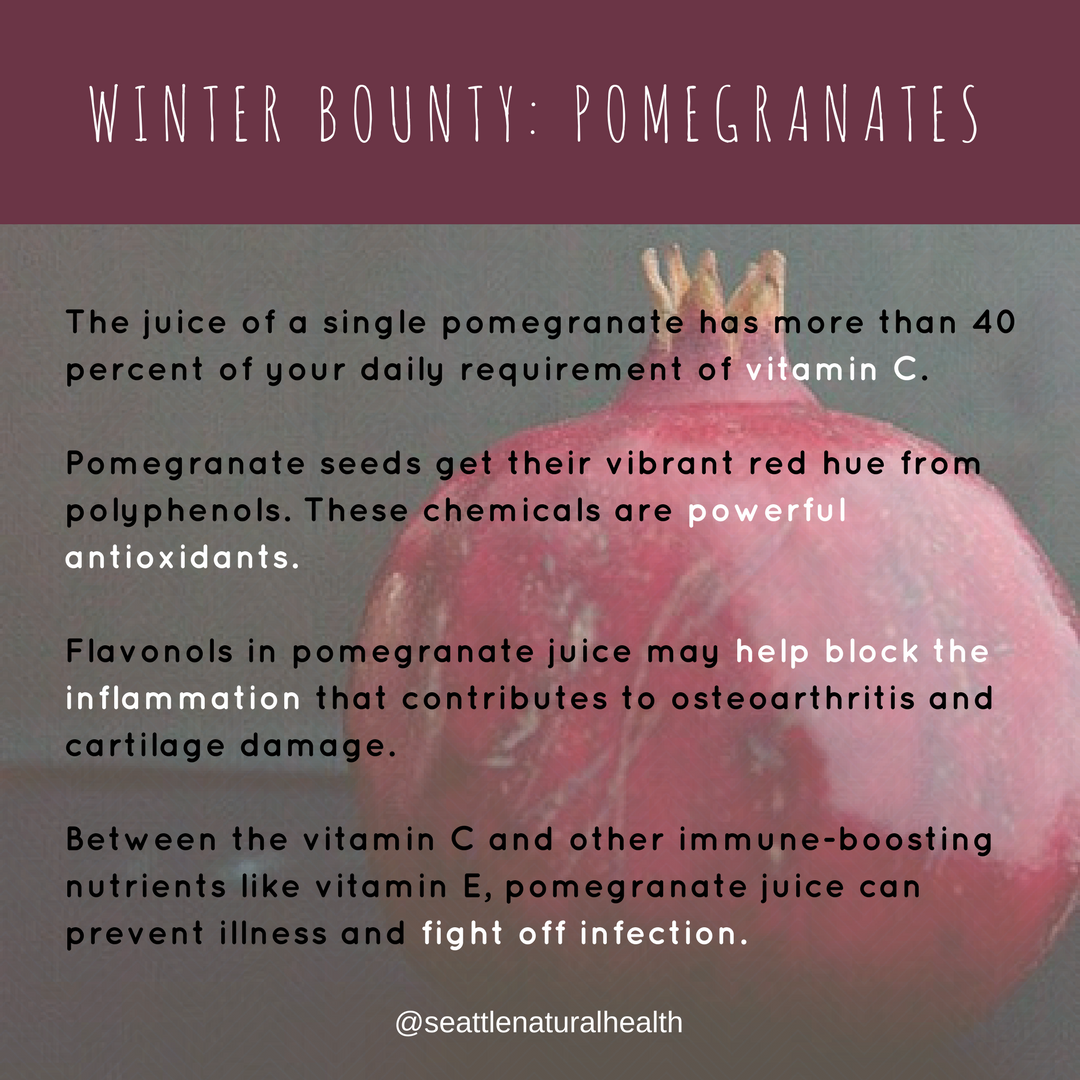 Winter bounty_ pomagrnates