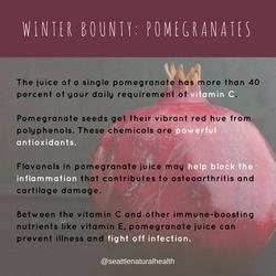 Winter bounty_ pomagrnates
