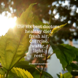 the best 6 doctors_healthy diet,fresh air,exercise,water, light,rest.