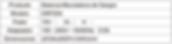 Tabla de Especificaciones Balanza Mezcladora CM735A