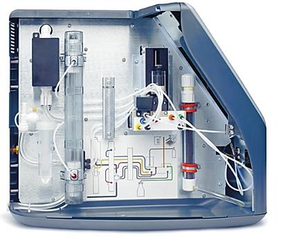 Interior del Analizador QbD1200