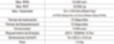 Tabla de Especificaciones Centrífuga Micro 12