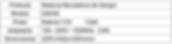 Tabla de Especificaciones Balanza CM350