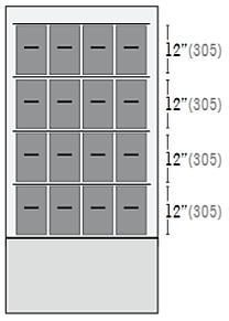 Configuración de Cajones Ultracongelador iUF116