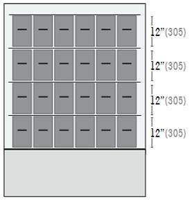 Configuración de Cajones Ultracongelador iUF124