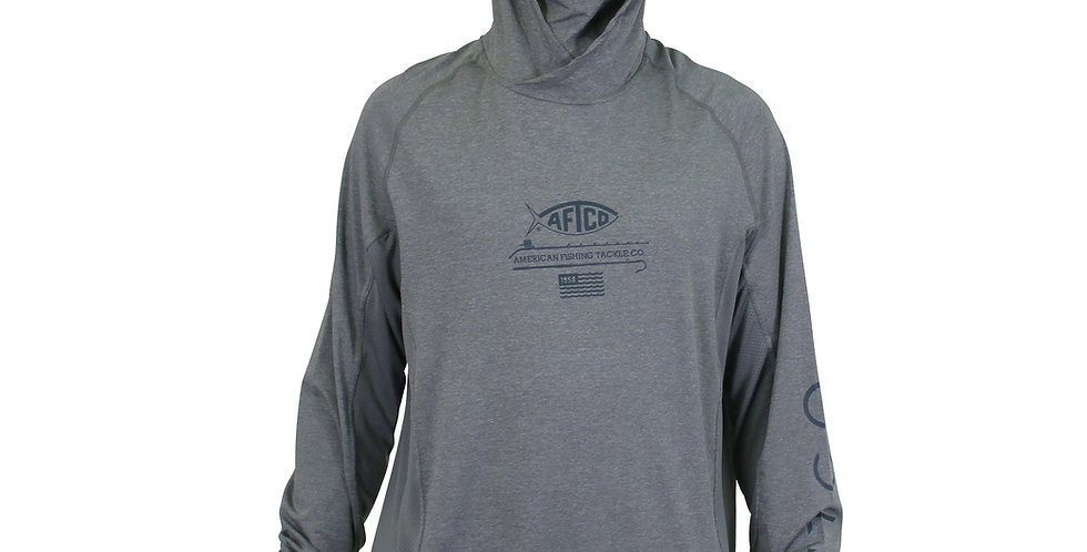 AFTCO Barracuda Geo Cool Playera ML Performance con Protección UV