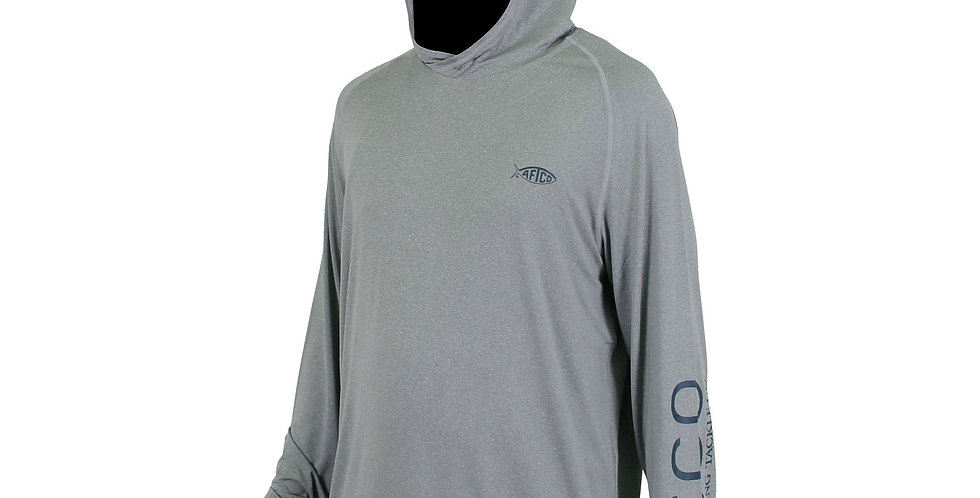 AFTCO Playera Samurai Hoodie 50FPS Steel Heather