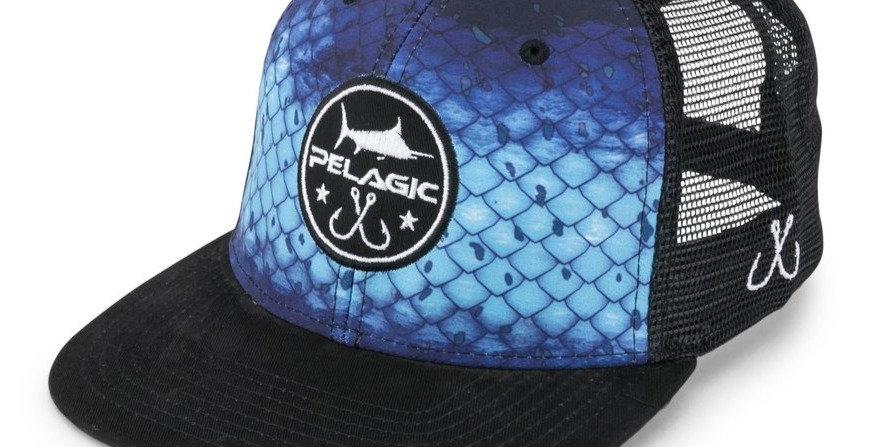 Pelagic Gorra Hydro Snapback Dorado Azul