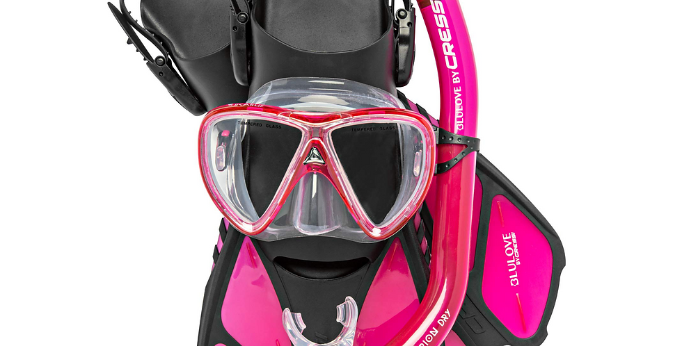 Cressi Bonete Pro Dry Set Completo de Snorkeling