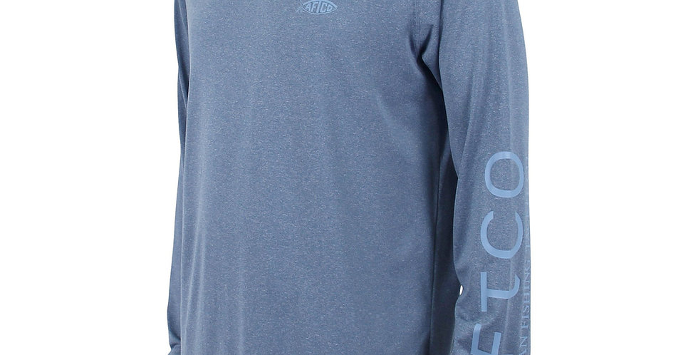 AFTCO Playera Samurai Protección Solar Space Blue Heather