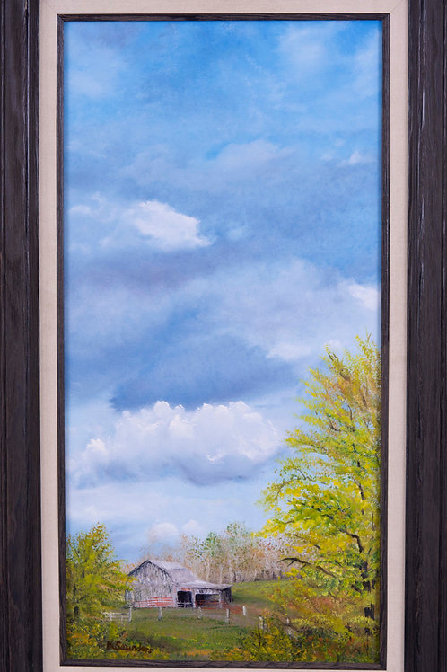 """Looking East"" 12"" x 24"" oil on canvas"