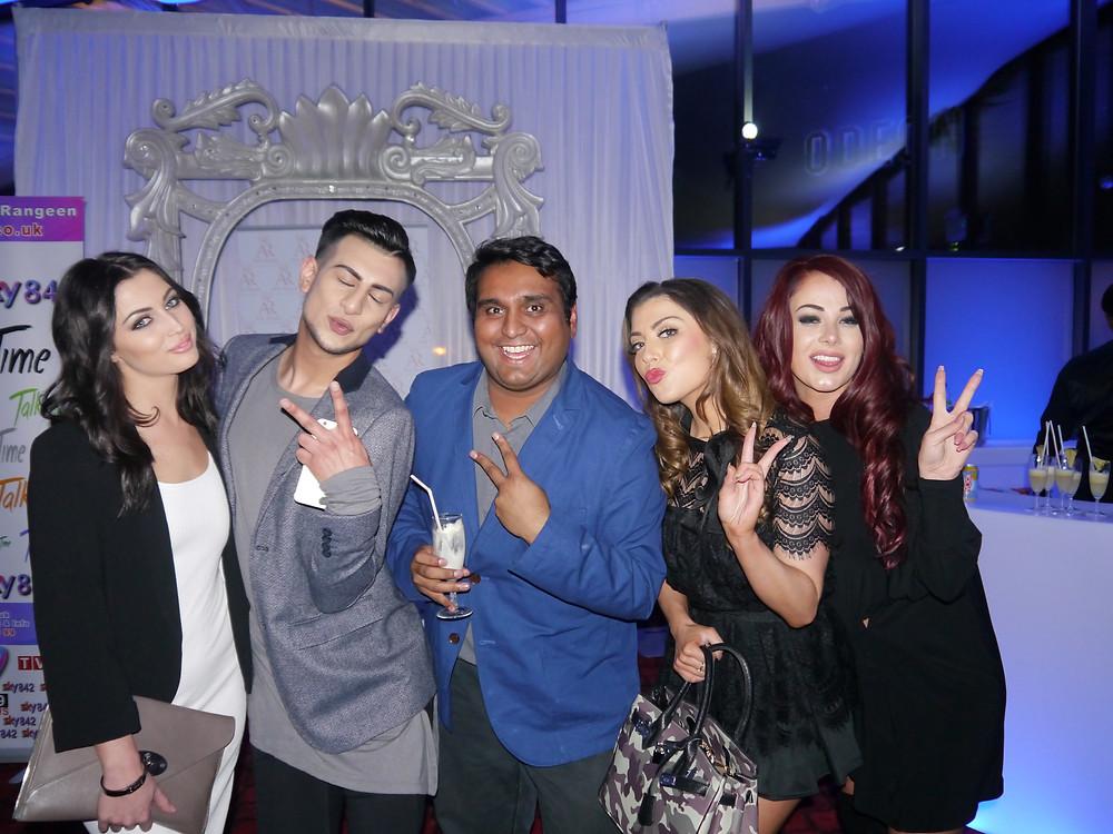 Left: Shelby Billingham, Junaid Ahmed, Jaimal Mistry, Abigail Clarke and Jessica Hayes