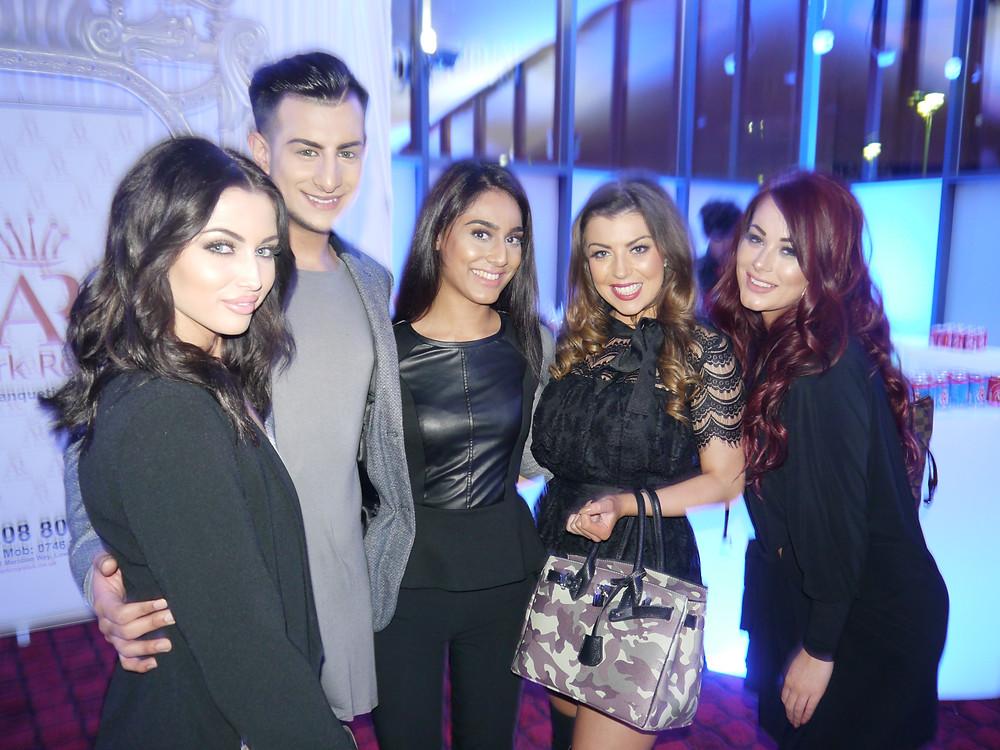 Left: Shelby Billingham, Junaid Ahmed, Taran Kaur, Abigail Clarke and Jessica Hayes