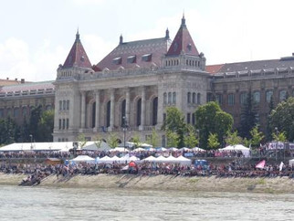 Dragon Boat On The Artery of Budapest
