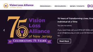 Web Design/Development, Art Direction, UI/UX, Site Overhaul: Vision Loss Alliance of New Jersey