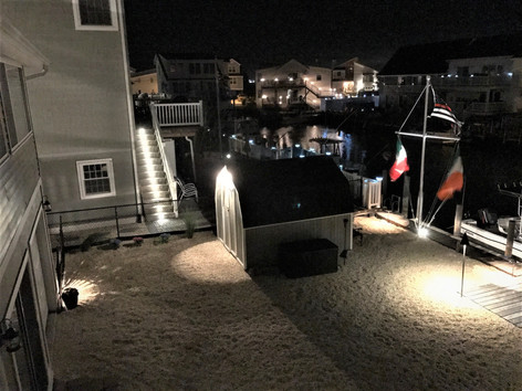 Various Lighting, Steps, Flag Pole, Path, Dock, Deck & Shed