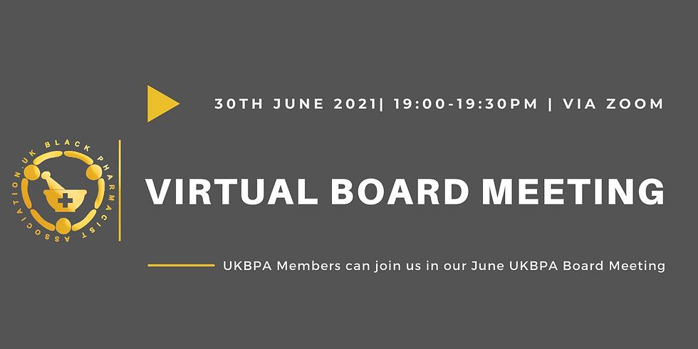 Virtual UKBPA Board Meeting