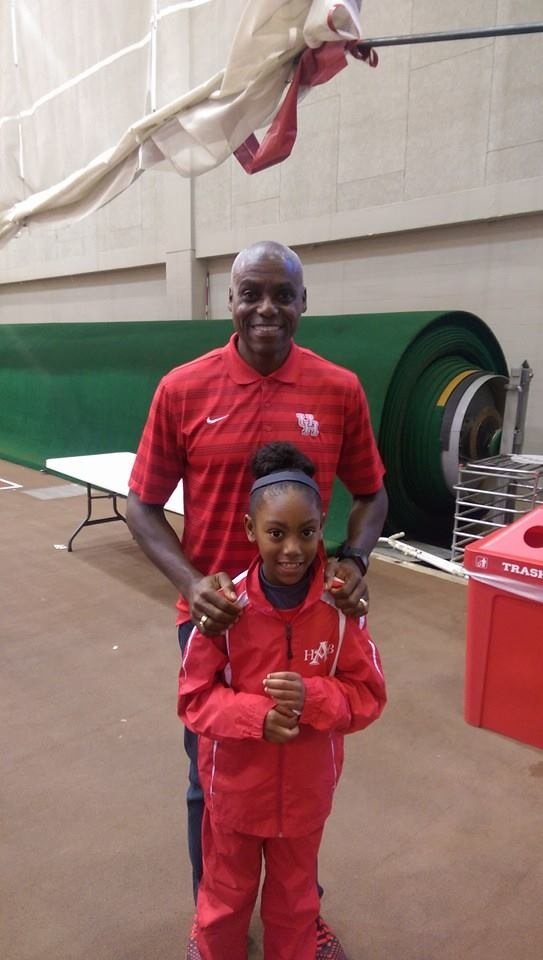 Jayden Cooper with Carl Lewis