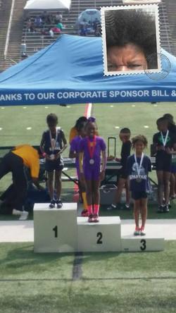 Jayden 2nd place 100m