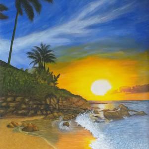 Sunsrise on a beach