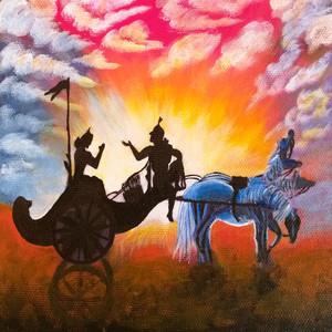 Lord Krishna with Arjun