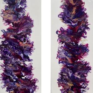 Fluid Art Diptych : 2 Frames