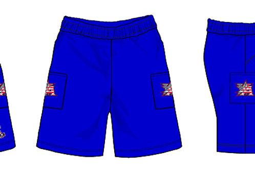 Blue Micro Shorts