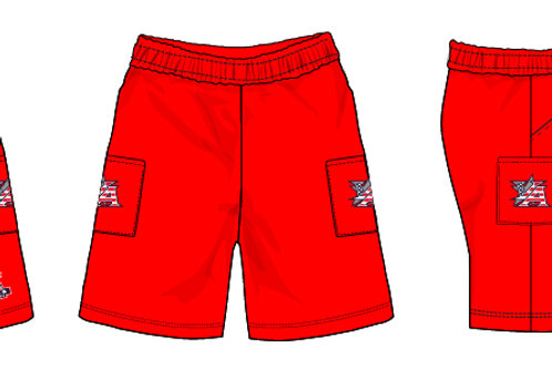 Red Micro Shorts