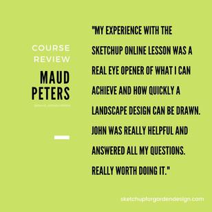 SketchUp for Garden Design, Course Review : Maude Peters