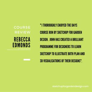 SketchUp for Garden Design, Course Review : Rebecca Edmonds