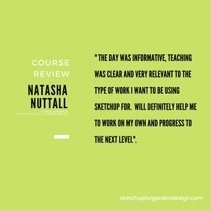 SketchUp for Garden Design, Course Review : Natasha Nuttall