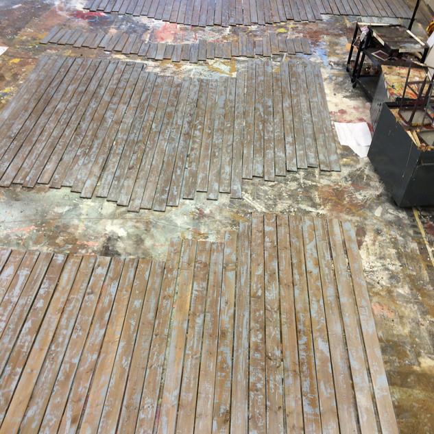 Deck Painting in Progress