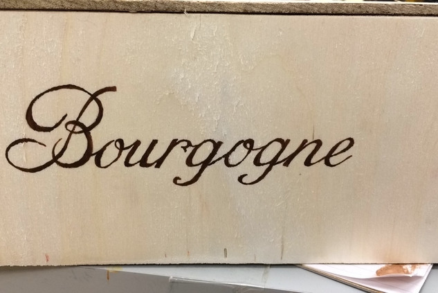 Wine Box Lable Lettering