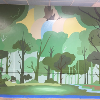 FOREST - Mural at Metropolis Performing Arts Center