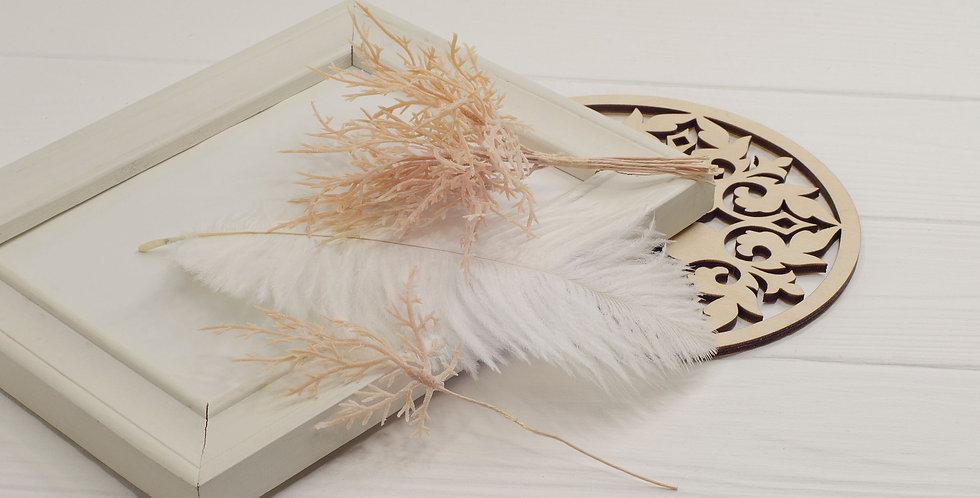 Ветка Туи декоративная , беж