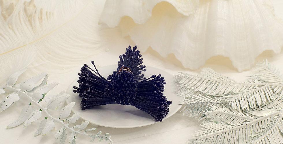 Тычинки глянец пучок 1мм длинные , черные