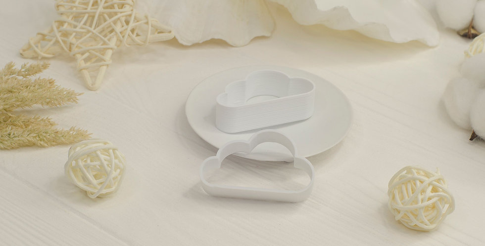 Форма для валяния Тучка плоская , белый