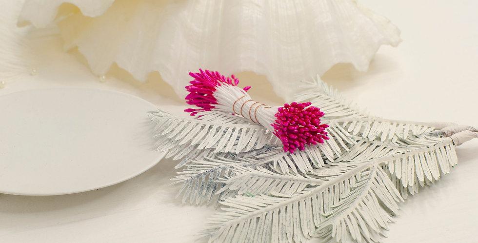 Тычинки глянец пучок 1мм длинные , ярко розовые