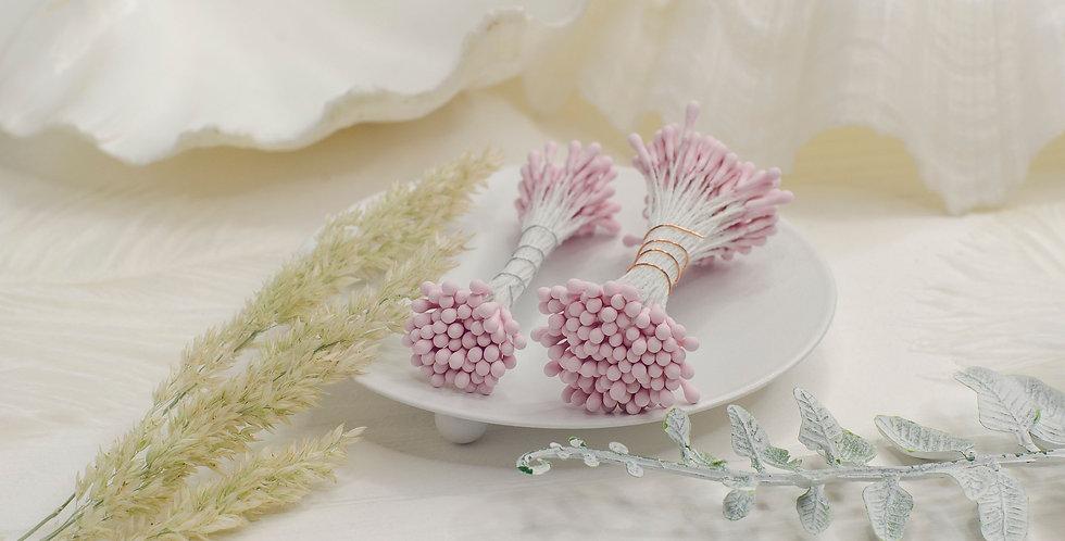 Тычинки матовые пучок 1мм , бледно розовые