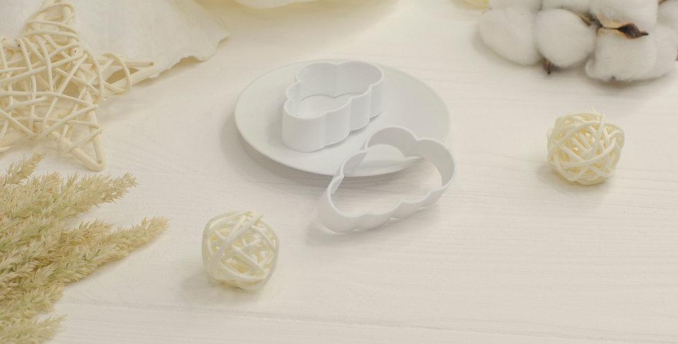Форма для валяния Тучка полная , белый