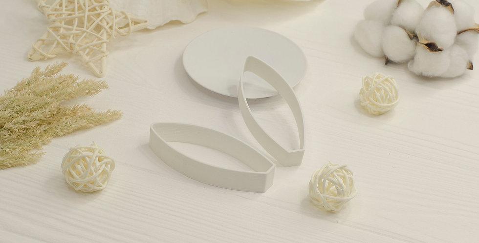 Форма для валяния Ушки зайчика маленькие , белый